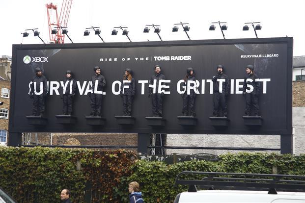 24 hour endurance billboard promotes new Lara Croft game