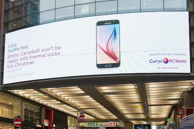 Currys PC World drop hints for its 'Spare the Act' Christmas campaign