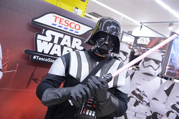 Tesco transform its stores to celebrate new Star Wars film