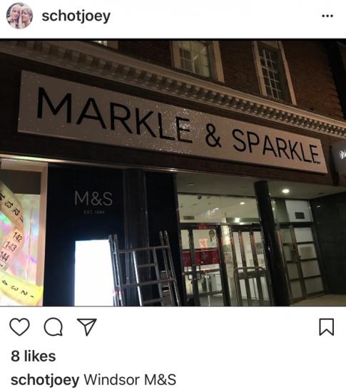 M&S celebrates royal wedding by becoming Markle & Sparkle