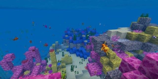 minecraft aquatic update oceans coral water reefs creatures rebuild helps assisting actual under allowing explore them