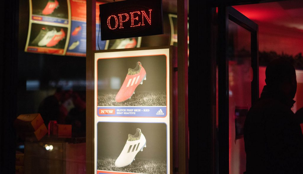 adidas convert Chicken Shop into a Glitch Takeaway  9a675fa1a1e