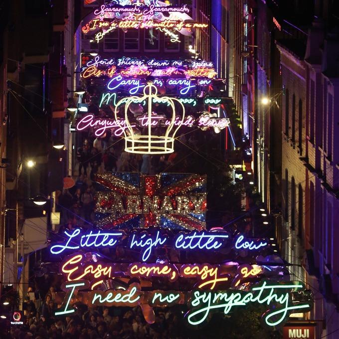 London U2019s Carnaby Street Lights Up For Bohemian Rhapsody