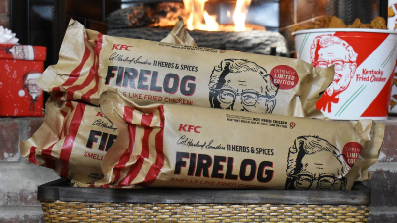 KFC is selling logs that smell like fried chicken   PR Examples