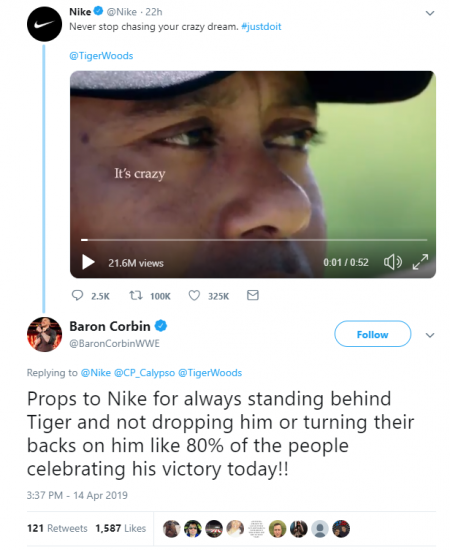 Nike release moving ad to celebrate Tiger Woods victory at